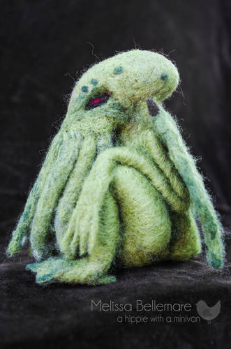 Hippie With A Minivan's Needle Felted Cthulhu