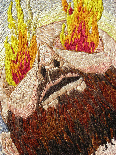 William Schaff - What Is Human? - Hand Embroidery