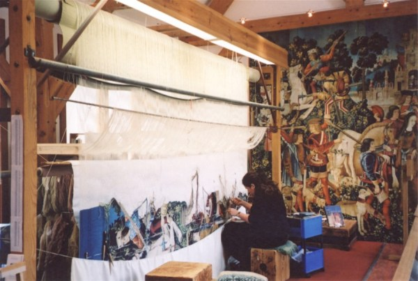 Reproduction tapestry being woven for Stirling Castle