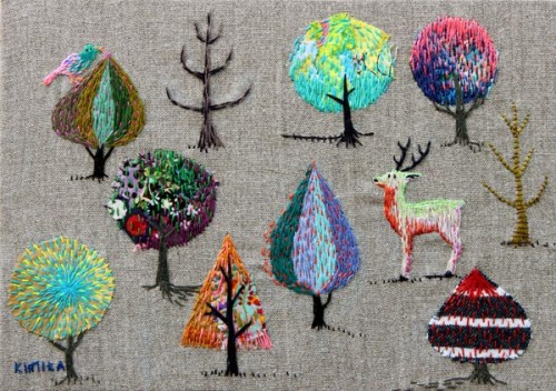 Kimika Hara - Forest - Hand Embroidery