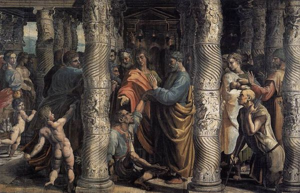 Raphael - The Healing of the Lame Man (1515) - Painting - via Wikimedia Commons