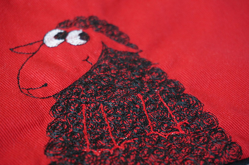 Detail, Black Sheep pouch