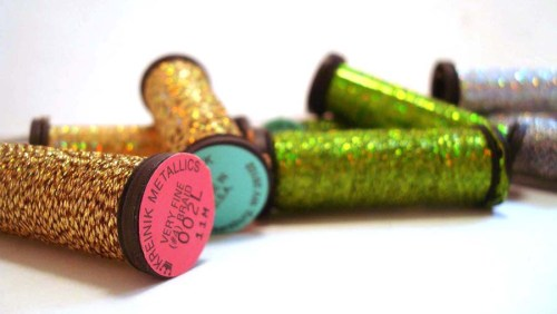 Kreinik Very Fine #4 Braid is the most popular metallic for cross stitch