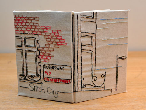 Queensway Notebook by Alex Hughes ( Hand embroidery)