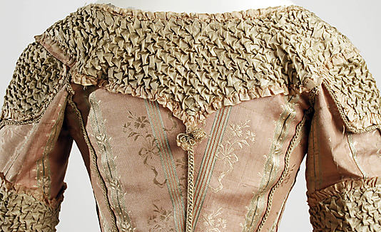 © Met Museum. Smocked 18th century dress