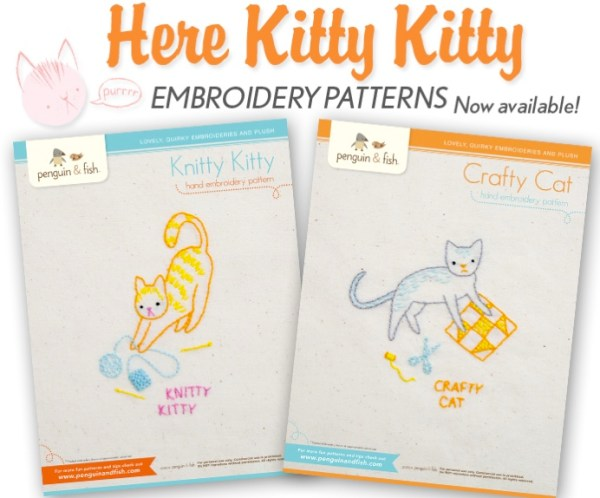 Here Kitty Kitty patterns by Penguin & Fish.