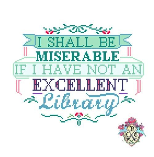 I Shall Be Miserable by Lauren Moreno (Cross stitch design)