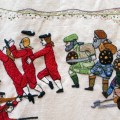 Jacobite Uprising panel at the Great Tapestry of Scotland (more detail)