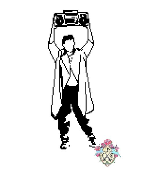 Lloyd Dobler by Lauren Moreno (Cross stitch design)