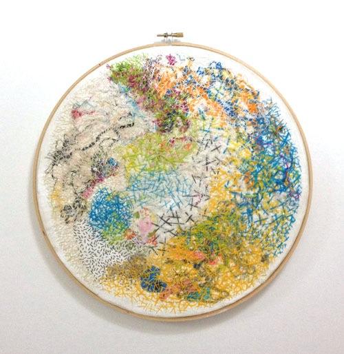 Community by Kelly Darke (Hand embroidery)