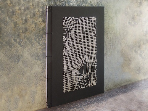 Disturbed Mesh Notebook by Fabulous Cat Papers (Hand embroidery)