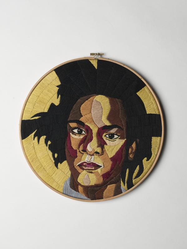 Luisa Zilio - Jean-Michel Basquiat - Hand Embroidery