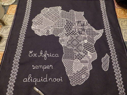 Elderflower's Glow In The Dark Blackwork Map of Africa