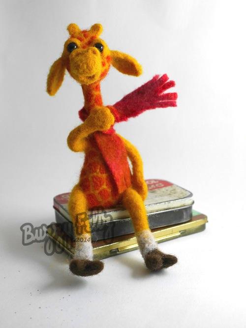 Giraffe Sculpture by Buzzy Feltz (Needle Felt)