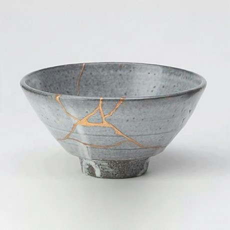 "When an item is mended with gold it's called, ""Kintsugi""."