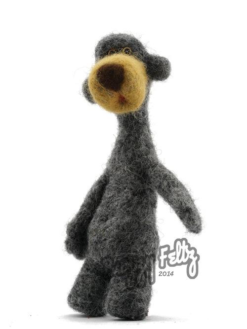 Bear Sculpture by Buzzy Feltz (Needle Felt)