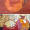 Detail of Eleanor Levie's Pomegranates quilt