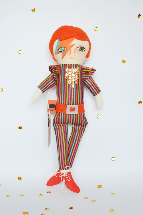 David Bowie Doll by Mandarinas de Tela (Soft Sculpture)