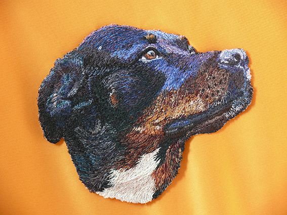 Stacey Chapman - Black Dog - Machine Embroidery