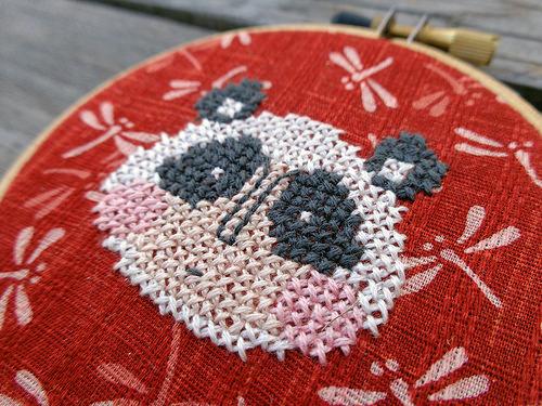 Panda detail, by Sandra Murta, 2014.