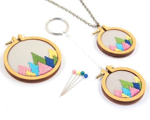 Mountain Peaks Mini Hoop Collection by Dandelyne (Hand Embroidery)