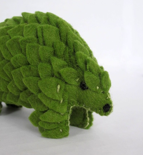 Miniature Pangolin by The Ladybird Tree (Soft Sculpture)