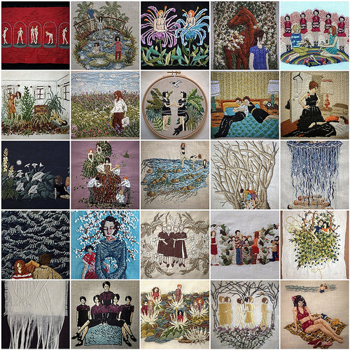 The Year in Stitch. Hand embroidery by Michelle Kingdom.
