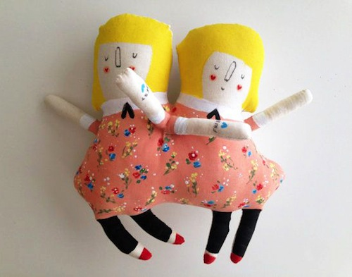 Olivia and Penelope Live in the Circus by Blue Raspberry Designs (Soft Sculpture)