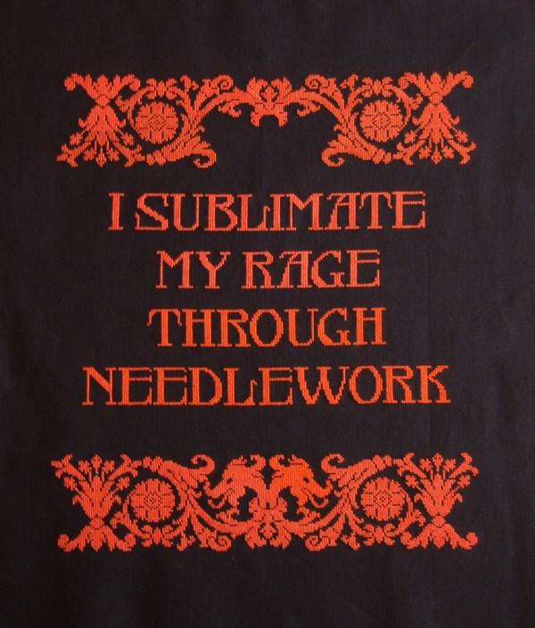 Cross Stitch Ninja - I Sublimate My Rage Through Needlework