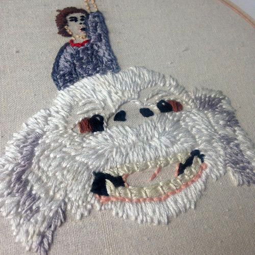 Falcor by Stitch You Up (Hand Embroidery)