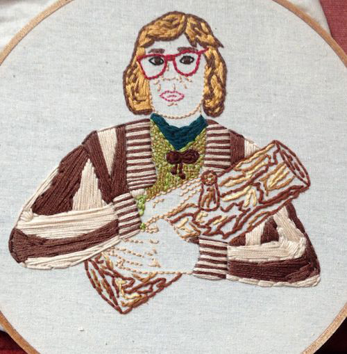 Log Lady by Stitch You Up (Hand Embroidery)
