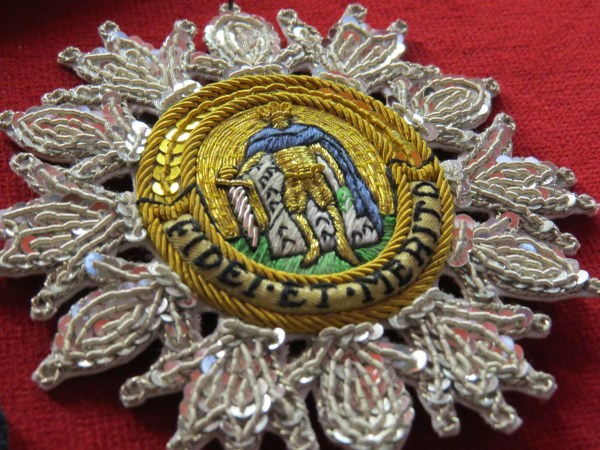 Order of St Ferdinand embroidery by Hand & Lock (detail)