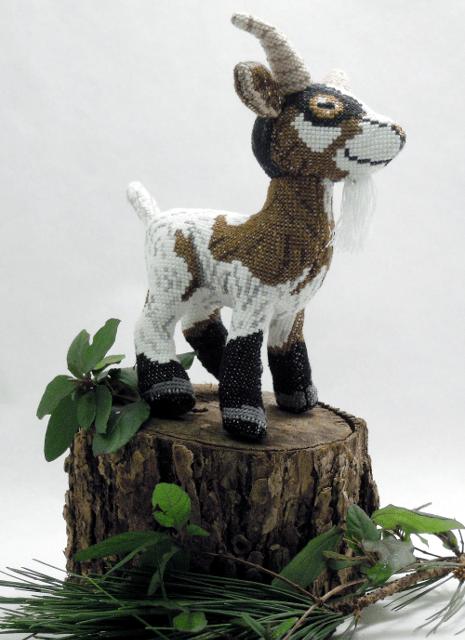 Robin Hobbs - Goat - 3D cross stitch