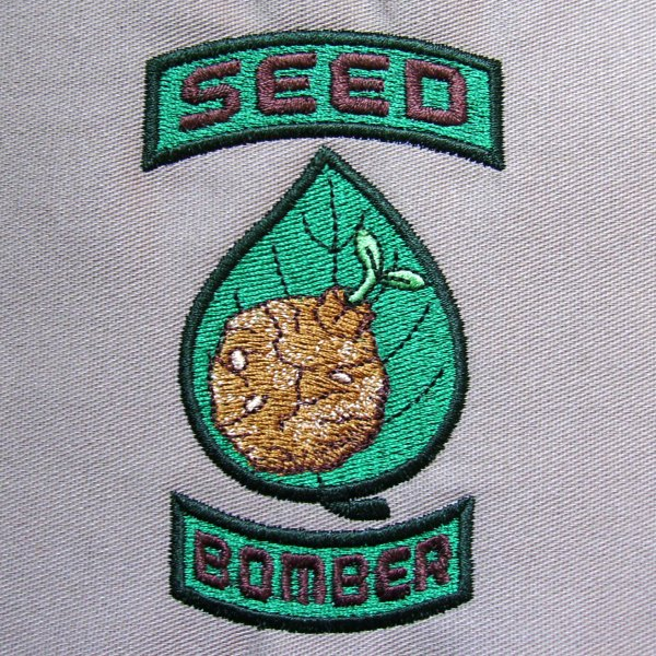Ghost in the Embroidery Machine Seed Bomber Patch-Styled Design by Erich  Campbell