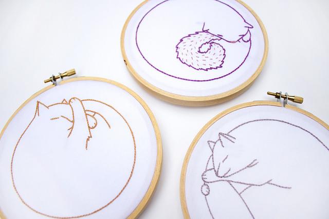 Too Cute Tuesday – Circle Kitties by Cate Anevski
