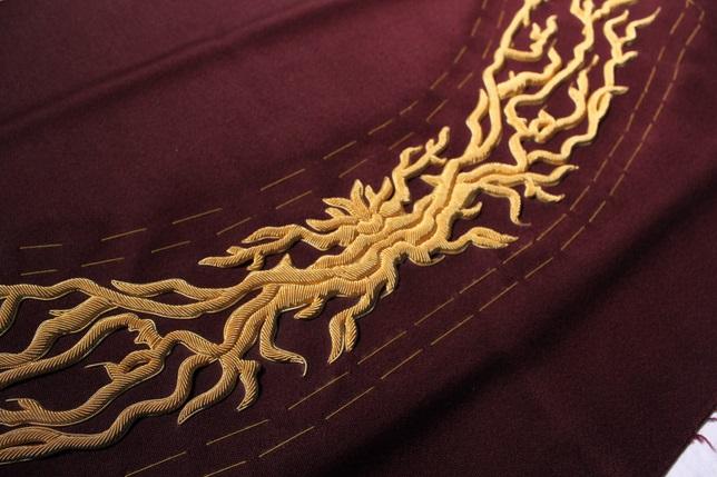 Goldwork Embroidery for Joshua Kane