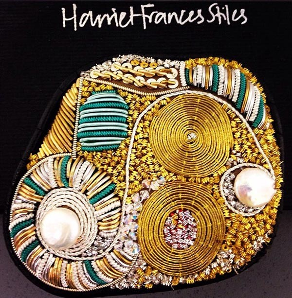 Goldwork Adornment - Harriet Frances Stiles