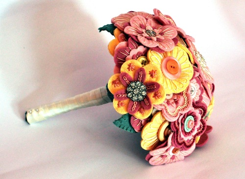 Heirloom Bridal Bouquet by Charlotte Laurie Designs (Hand Embroidery)