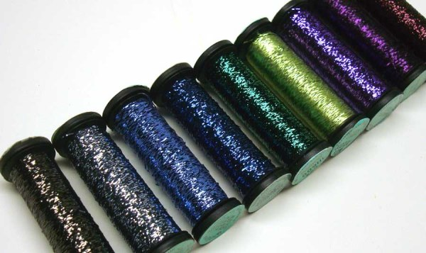 Kreinik Blending Filament comes in a variety of finishes or effects.