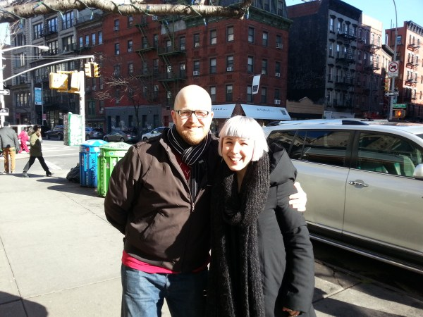 MrXStitch and Zoe Williams in New York