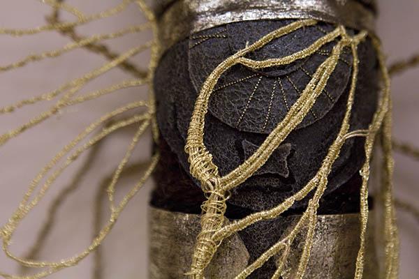 Embroidered cicada by Jenna Lagonigro