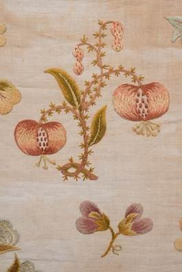 Pomegranates on a 19th century sampler