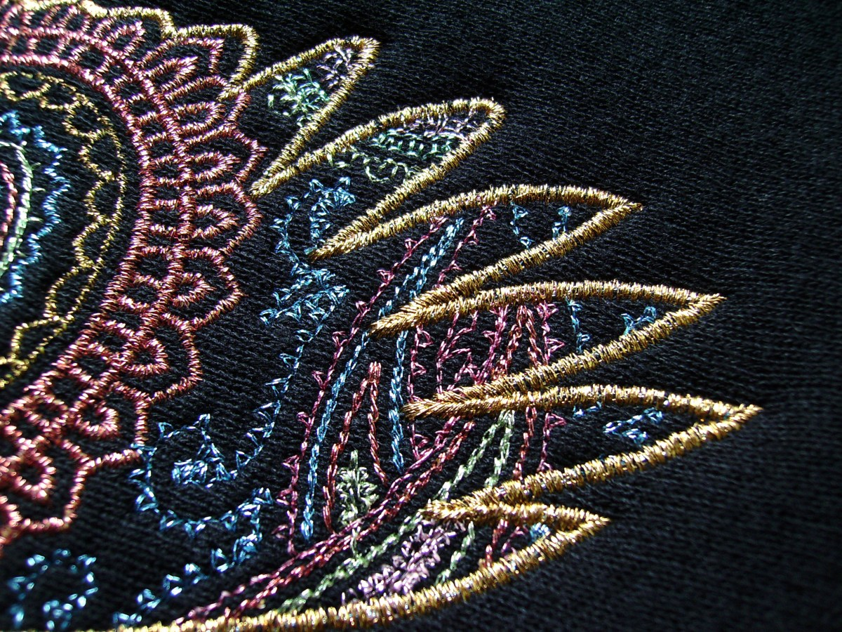 Extended Stitch Types in Machine Embroidery – Bean Stitch and Motif Stitching