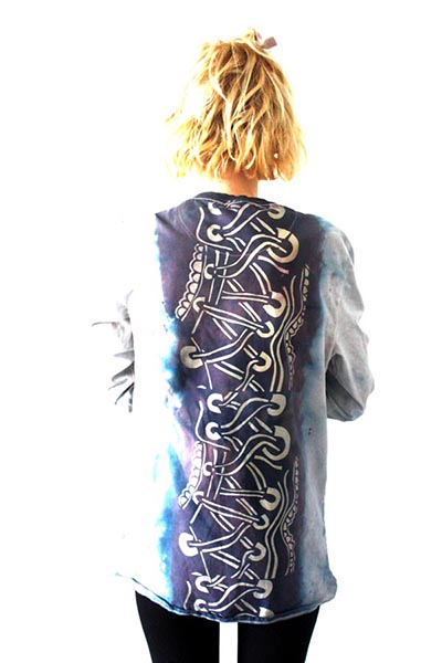 Screen-printed garment, by Ailish Henderson