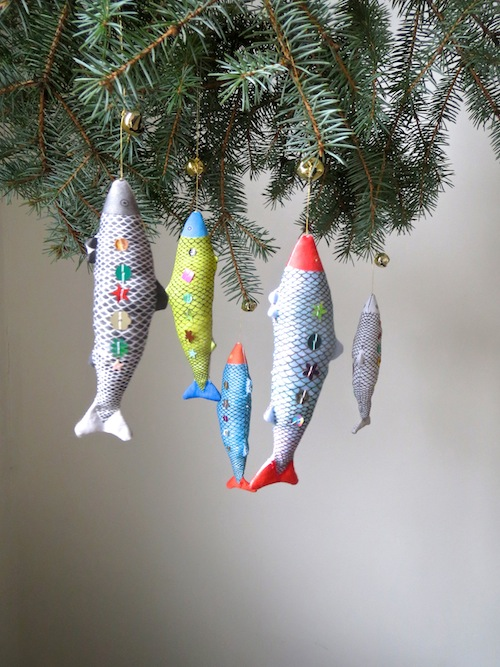 Fish Ornaments by Alia Grace Dolls (Soft Sculpture)