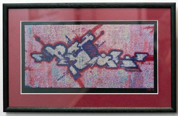 Panika: Original graffiti cross stitch by Mr X Stitch