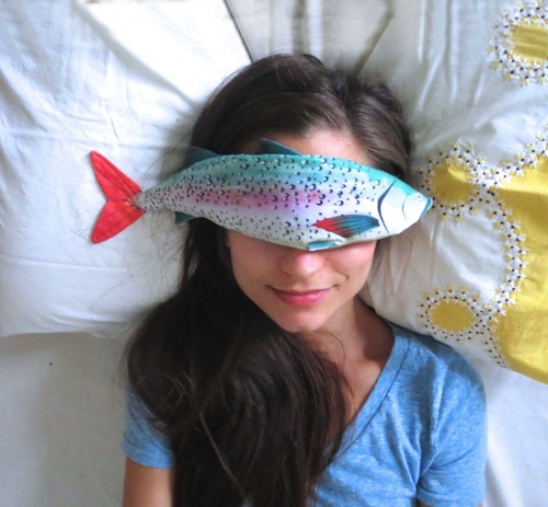 Lavender Fish Eye Pillow by Alia Grace Dolls (Machine Embroidery)