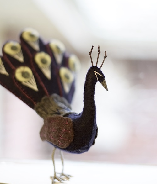 Peacock by Fantails and Feet (Soft Sculpture)