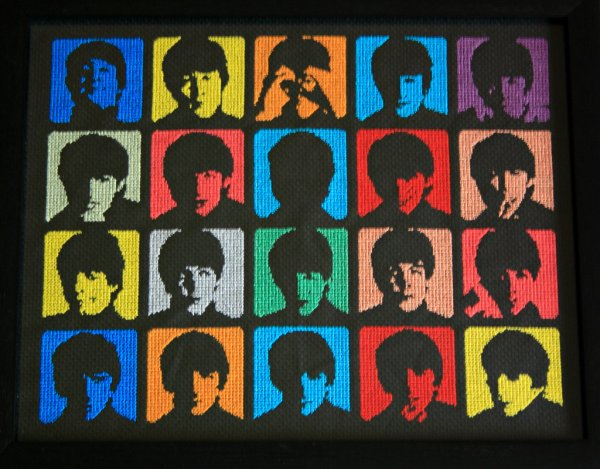 The Beatles Cross Stitch by behindthesofa