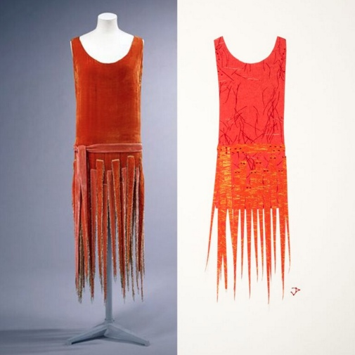 1920s dress. Mixed media, by Judith Pudden.